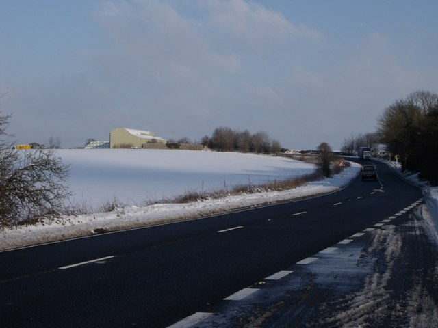 The A26 south of Beddingham, East Sussex