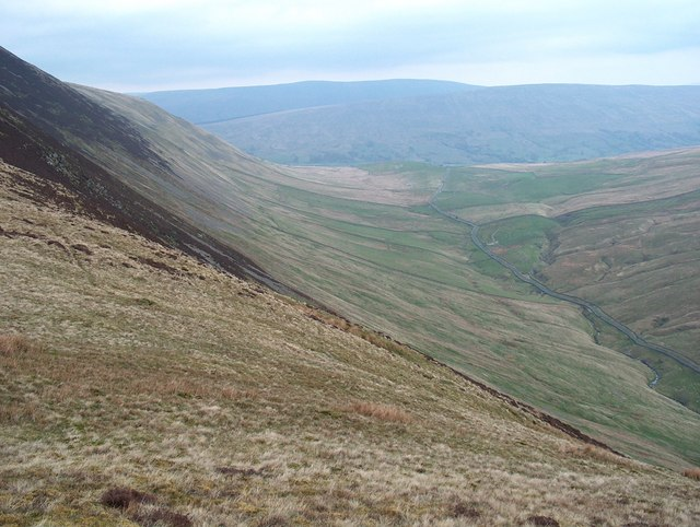 The slopes below Calf Top