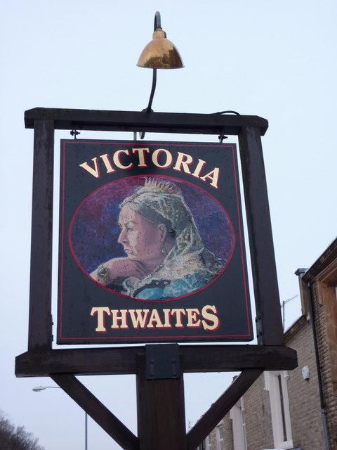 Victoria, Manchester Road, Accrington, Sign