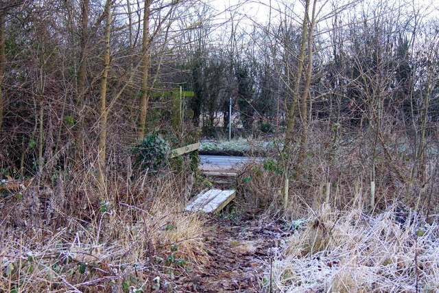 Footbridge over a ditch by the A415