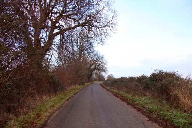 The road to Burcot Farm