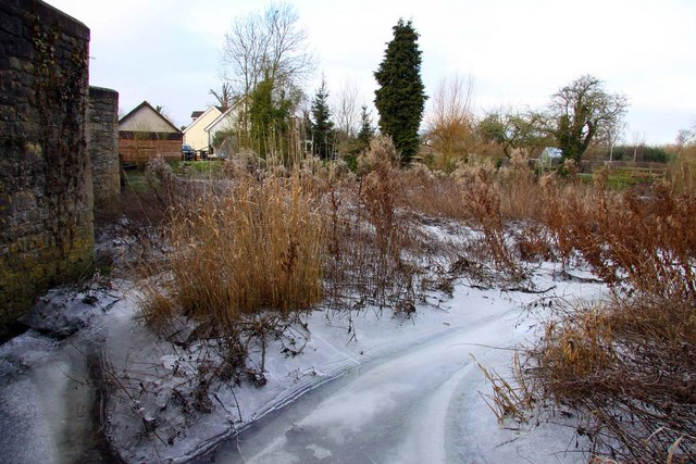Frozen footpath at Chiselhampton