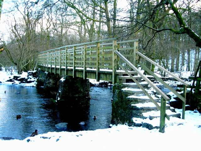 Footbridge over River Rothay