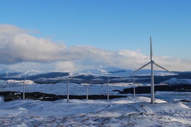 Beinn Ghlas windfarm, Argyll