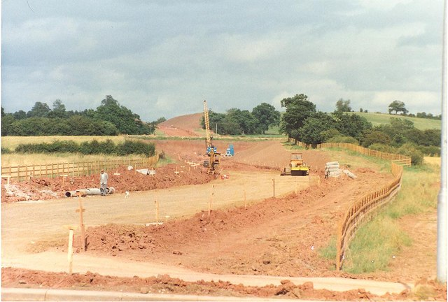 Construction of the A4440 in August 1987