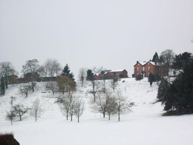 Tynllwyn Farm in the snow