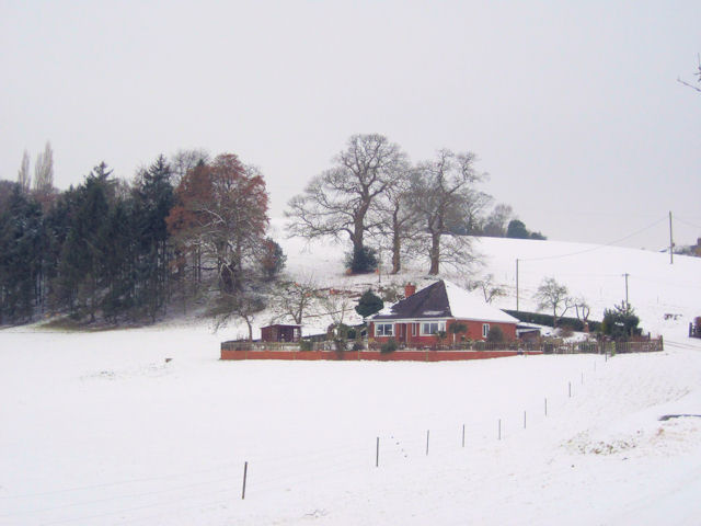 Bungalow in the snow