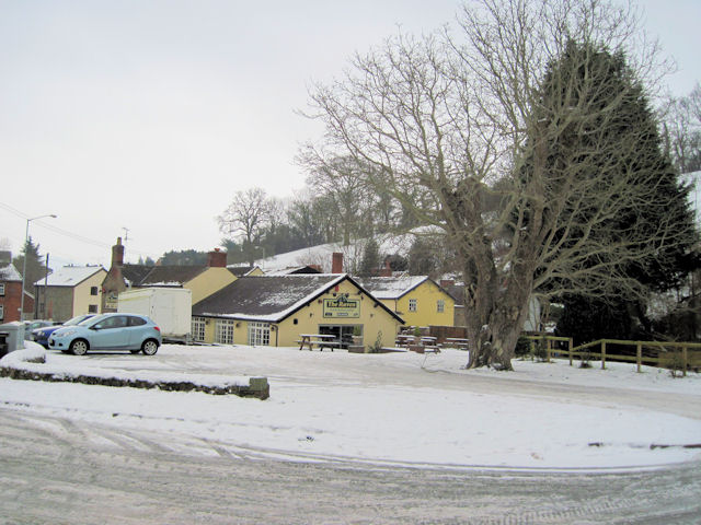 The Raven Inn in the snow