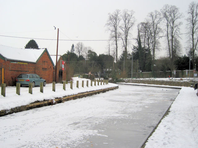 Frozen Montgomery Canal
