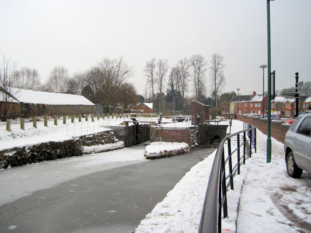 Town locks on Montgomery canal