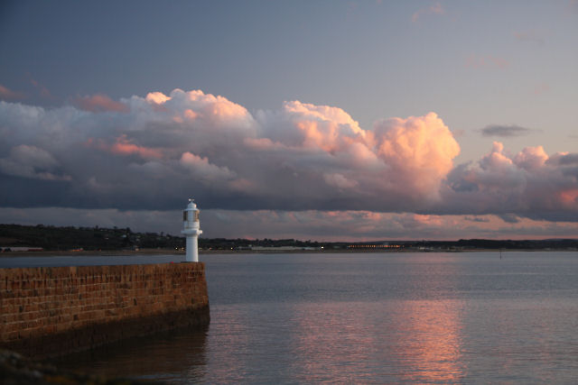 Penzance harbour arm and lighthouse