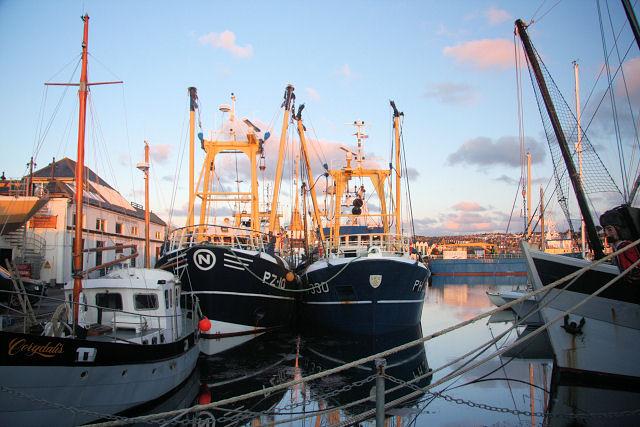 Trawlers in Penzance Dock