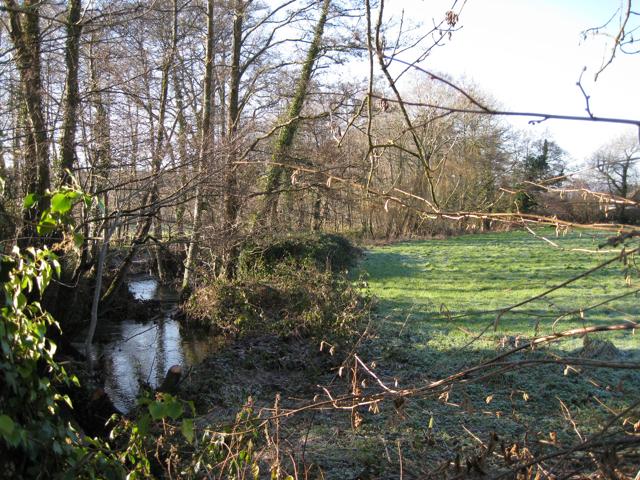 Ventiford Brook upstream from Ventiford Bridge