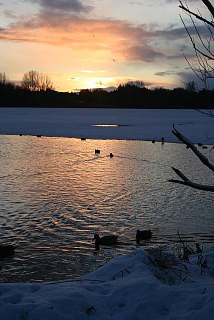Winter Sunset on Forfar Loch