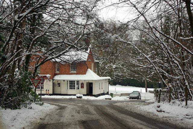 Snowy cross roads, Colgate
