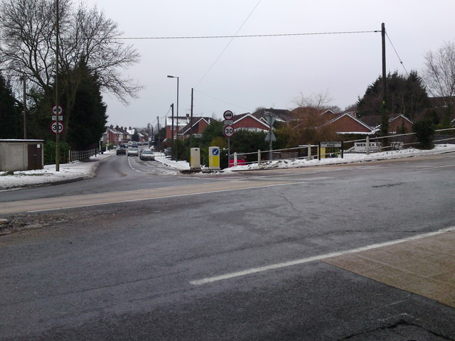Portsmouth Road junction with A27 Providence Hill & Oak Hill