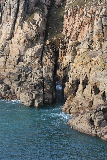 Sea cliffs at Porth Loe