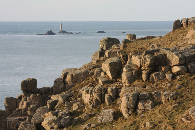 Pellitras Point and Longships lighthouse