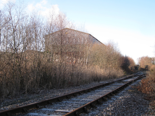 Heathfield clay works beside the disused railway line
