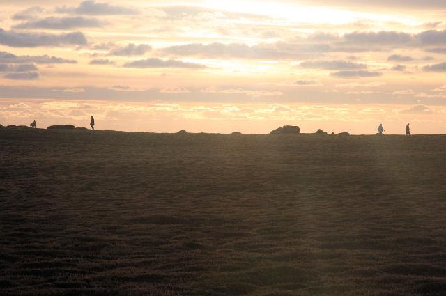 Walkers on the coastal path