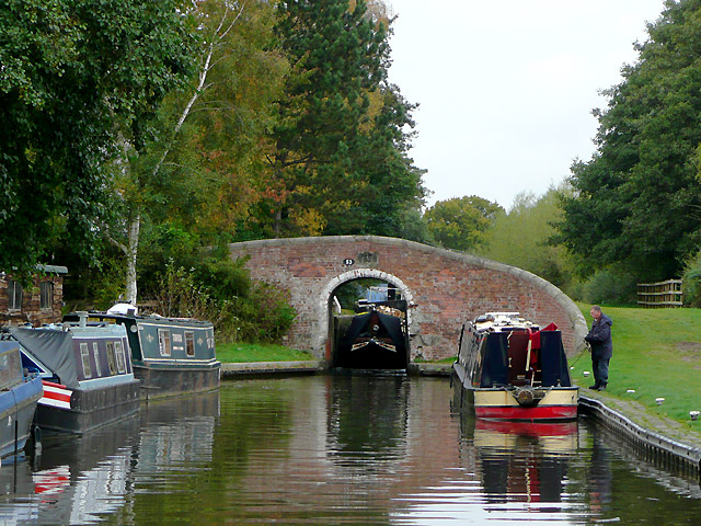 Traffic at Wood End Lock, near Fradley, Staffordshire