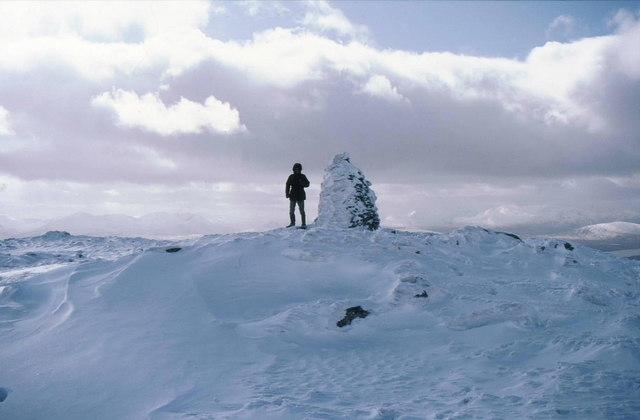 Summit cairn on Carn Dearg
