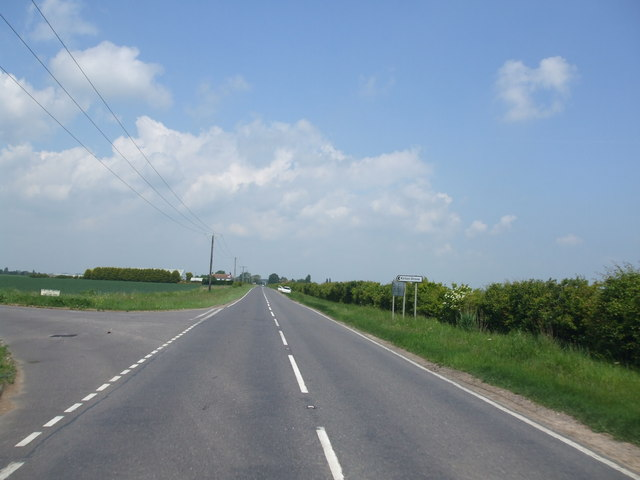 Langrick Road, Kirton Drove junction