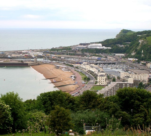 Dover seafront from Dover Castle