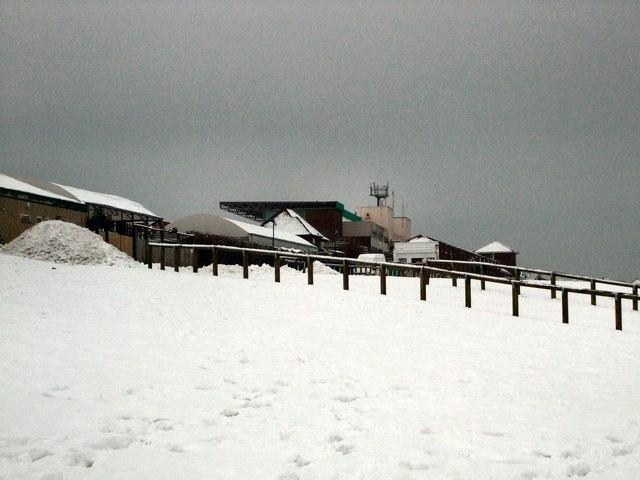 Snow scene near Brighton racecourse