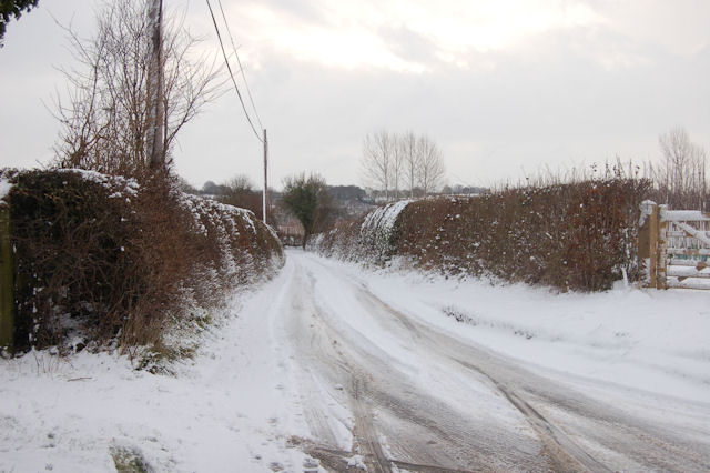 Snowy Lane entrance for Derwen Mill