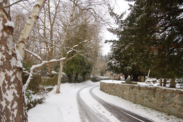 Church Lane in the snow