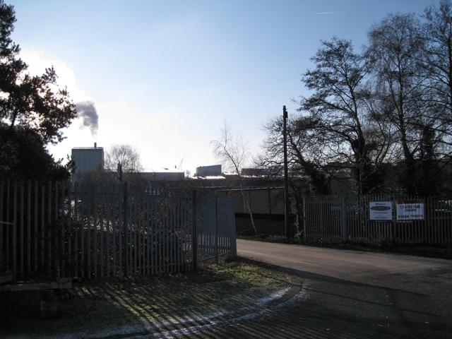 Entrance to Dainton Business Park