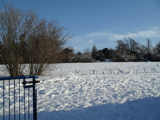 Snowy playfields at Front Lawn schools