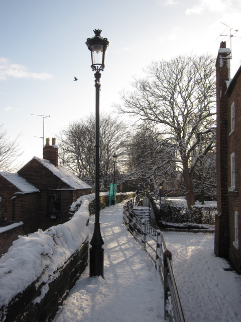 City walls in the snow by Abbey Street