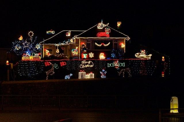 Christmas lights, Torquay
