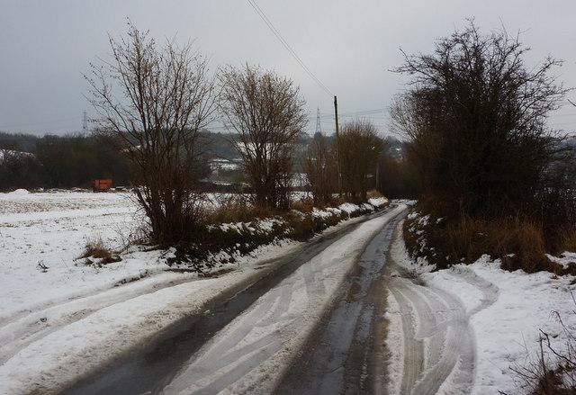 Looking along Flowton Road