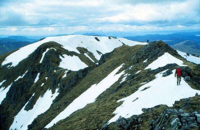 Summit Ridge of Sgurr nan Ceathreamhnan