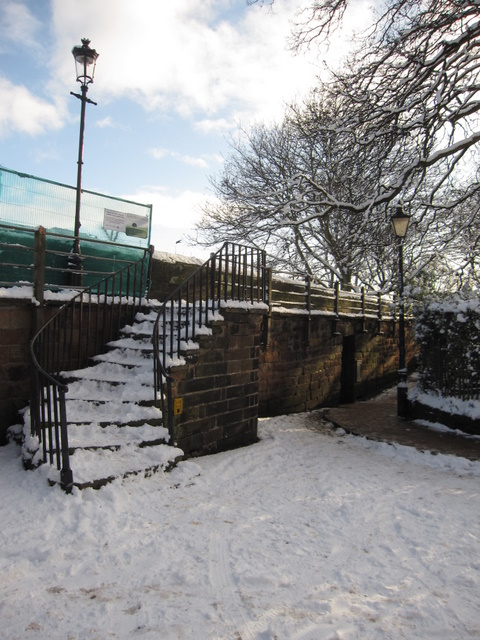 Steps to the city walls in Abbey Street