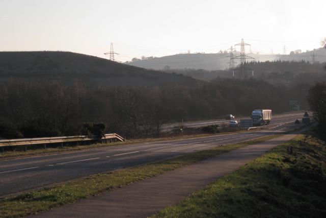 Slip road off A38 (T) northbound