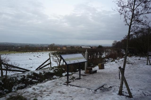 Telescope beside the path