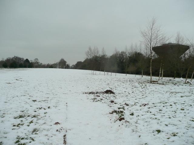 Radyr Golf Course in winter
