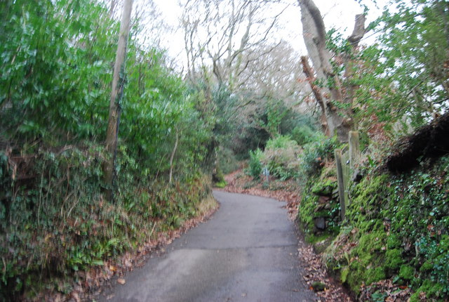 Steep hill, Luccombe Lane