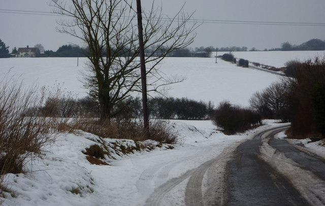 Manor Road near the church