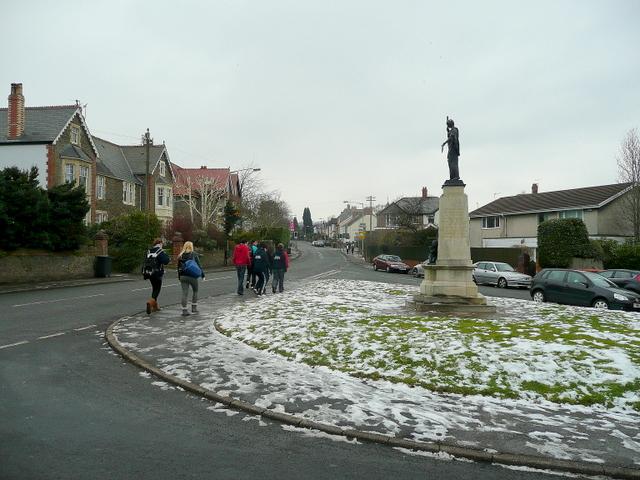 Passing the War Memorial
