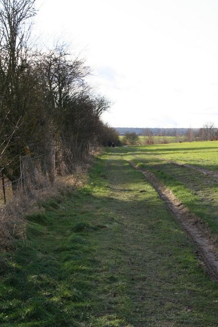Footpath along the cutting