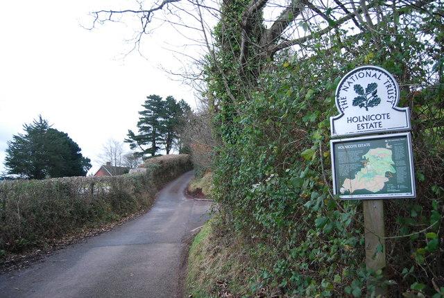 Entering the Holnicote Estate, Luccombe Lane