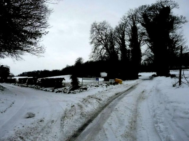 Junction of byway and Gatteridge Lane