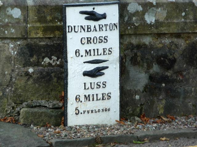 Milestone at Duck Bay