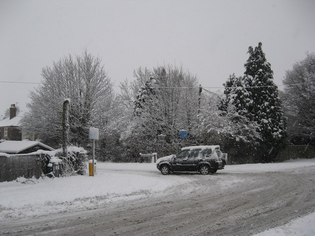 Junction of Meath Green Lane with Horley Row, Horley Surrey