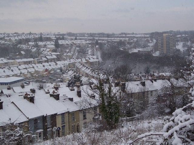 Luton in Winter (2010)